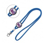 ML1018 - Round lanyard with domed slider. Min 100 pcs